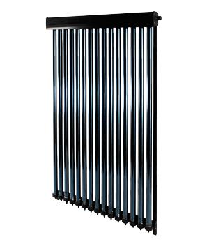 Thermosolarkollektor NMT VHP bestehend aus 15 Vakuumröhren heatpipe